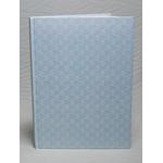 301-Βιβλίο Ευχών πλαστικοποιημένο σε γαλάζιο με σχέδια